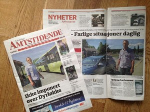 Faksimile avisoppslag i Amta