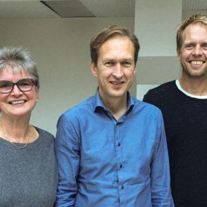 Sylvi Ofstad Samstag (SV), Erik Lundeby (V) og Henrik Mathiesen (MDG)
